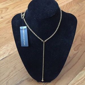NWT Rebecca Minkoff Acorn Y necklace in gold